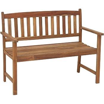 greemotion Banc de jardin en bois Borkum - Banc bois extérieur pour ...