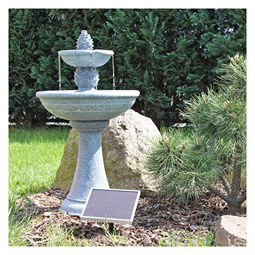 CLGarden Solar Springbrunnen Kaktus NSP6 - Standbrunnen für Balkon Terrasse Garten Brunnen mit Solar Pumpe