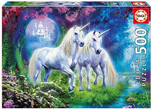 Educa Borrás- Puzzle 500 Unicornios en el Bosque (17648)