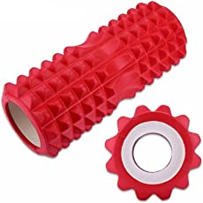 Orine Yoga Roller Gym Exercise Fitness Floating Point EVA Yoga Foam Roller PhysioTrigger Massage Color May Very