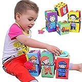 Baby Kleinkindspielzeug 6 Stücke Würfel Rasseln Stoffspielzeug Tiere Spielwürfel Frühkindliche Bildung,C