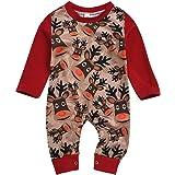MEIbax Otoño e Invierno Navidad Alces bebé niño niña Manga Larga Mono Mono Mameluco Batas Abrigo Ropa para niños Jersey