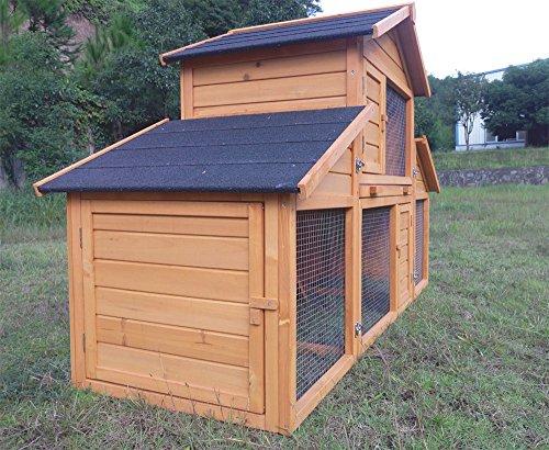 """Kaninchenstall Kleintierhaus Hasenstall Kleintierkäfig Nr. 01 """"Möhrchen"""" mit Seitenflügeln - 3"""