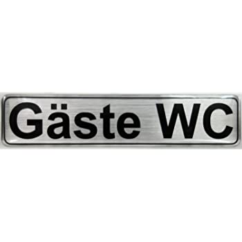 Bike Label Aufkleber 3D 900035 Alu geb/ürstet Bad Hinweisschild T/ürschild Toilettenschild WC