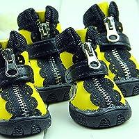4pcs perro perro _ zapatos Zapatos de alta calidad resistente al desgaste en el tendón al final de pet caliente zapatos,5,naranja