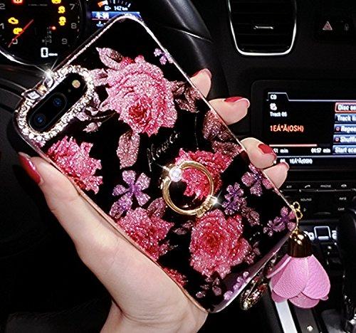 Cover per iPhone 8 Plus/ iPhone 7 Plus, Custodia per iPhone 8 Plus,Bonice Diamante Bling Glitter Lusso Cristallo Strass Morbida Rubber Full body Shock-Absorption Bumper e Anti-Scratch Case Cover Per i Modello 02