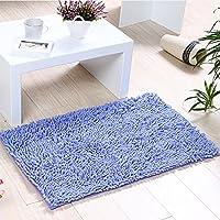 Alfombras de Baño, Alfombrilla de Baño Antideslizante Microfibra Suave Alfombra Lavar a Maquina Adecuado para Sala de Estar/Cocina / Dormitorio de Interior/Exterior (Púrpura)