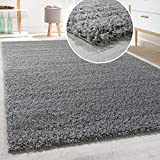 Shaggy Rug - Various Colours - Various Sizes, Size:60x100 cm, Colour:Grey