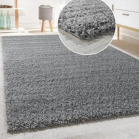 Hochflor Shaggy Langflor Teppich versch. Farben u. Grössen TOP PREIS NEU*OVP, Grösse:160x220 cm, Farbe:Grau