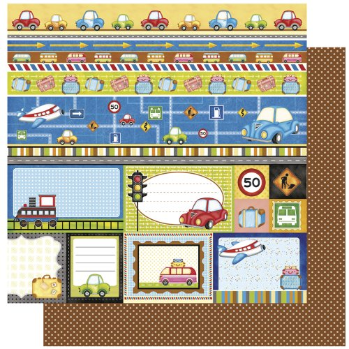 RAYHER - Scrapbookingpapier Vacation Cut Outs, 30,5x30,5cm, 190g/m2 -