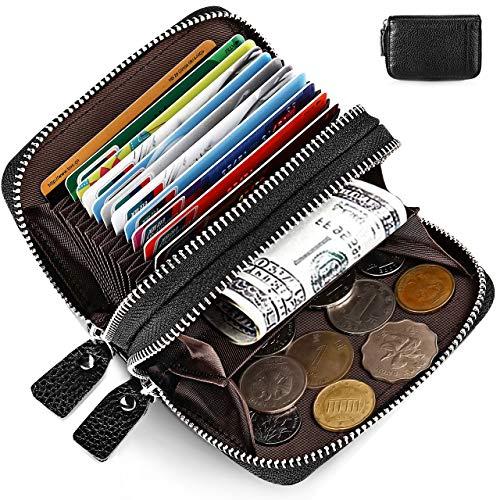 Geldbörse Damen Leder Klein Kreditkartenetui Rfid Schutz Kartenhalter Geldbörse Mit 10 Kartenfächer 2 Geld Münzfach Fächer Kartenetui