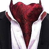 YCHENG Moda Hombre Pañuelo Jacquard Ascot Paisley Corbatas Banquete Regalo de San Valentín LJA-18