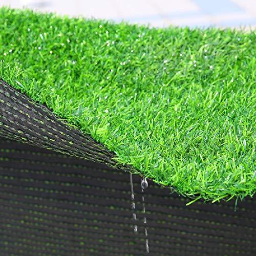 Rasenteppich YXX Wasserdichtes Kunstrasen gefälschter Kunstrasen, Außen Gras-Rasen-Teppich-Matte for Hunde, Garten, Hinterhof, Terrasse, Balkon, Veranda (Size : W1m×L1m)