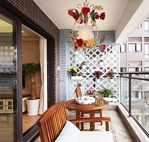 Ehime Questo idilliaco romantica rosa erba accensione a caldo della lampada testa singola off road ristorante chandelier 32 * 46cm