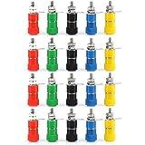 20Pcs 5 colores Conector de Terminal del Altavoz del Poste para el Enchufe de Pltano de 4 mm