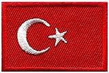 Flagge der Türkei türkisch Star Crescent Moon bestickt Aufnäher Patches Applikation
