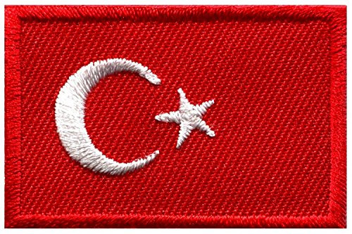 ürkisch Star Crescent Moon bestickt Aufnäher Patches Applikation (Diy-türkei-kostüm)