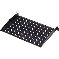 Étagère extractible DIGITUS Professional pour armoires 48, 3 cm 400 mm Tiefe Noir