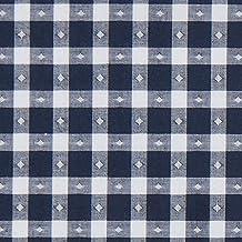 Fabulous Fabrics Tela para Blusas Rombos + Karo – Azul Marino/Blanco — Mercancia al