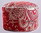 Die Kunst Box rot gold Mandala Ottoman, Bodenkissen, Boden Kissen, Kinder Hocker Bezug, 100% Baumwolle