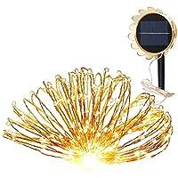 Guirlande Lumineuse 150leds Avec Panneau Solaire Résistant à la Chaleur et Pluie IP65 Lampe Led Decoration pour La Fete, Jardin, Alle , Terrasse ,Maison