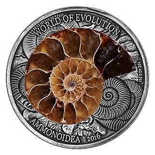 Welt der Evolution - Ammonoidea 1000 CFA Francs 1oz Silbermünze - Burkina Faso 2016