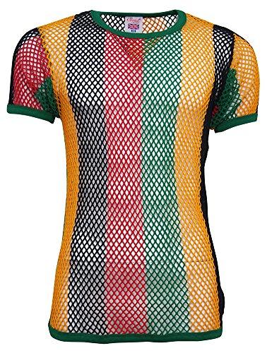 crystal-mens-100-cotton-string-mesh-fishnet-short-sleeve-t-shirt-large-black-red-gree-gold-stripes