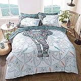 Nuevo de funda de edredón juego de cama: individual, doble, elefante Mandala & King Size, matrimonio