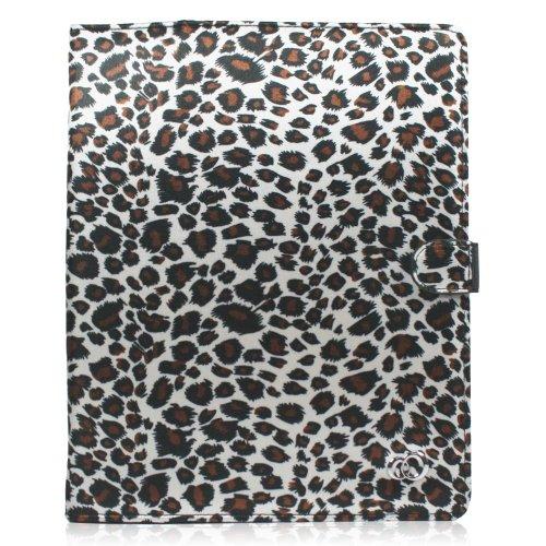 Kroo Grau Leopard Print Melrose Leinwand Schutzhülle für Apple iPad 2