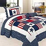 Beddingleer Childrens Boys COTTON 150 X 200CM Single Quilted Bedspread Patchwork Throws, Light Weight Four Seasons