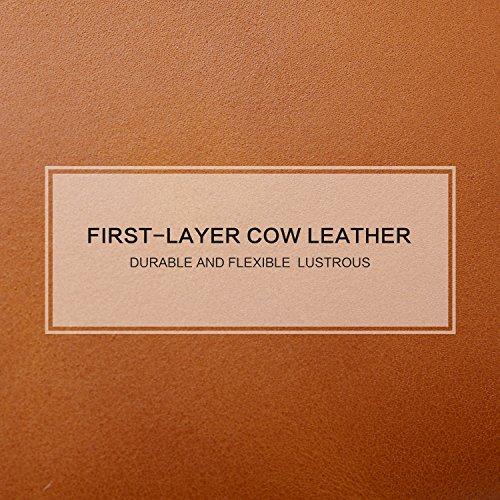 Borse da cuoio BOYATU Leather 2017 Summer Crossbody Borse da donna Borse a tracolla Fashional (Royal bule) Retro Brown