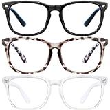 LNEKEI Blue Light Blocking Glasses - 3 Pack Blue Light Glasses Computer Gaming Glasses & Fashion Lightweight Frame Non…