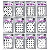 12 Packungen Nail Jewels Strass Sticker mit Strassstein Glanzpunkten selbstklebend - wunderschöne...