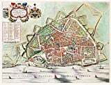 MAP ANTIQUE BLAEU NIJMEGEN CITY PLAN HISTORIC LARGE REPLICA