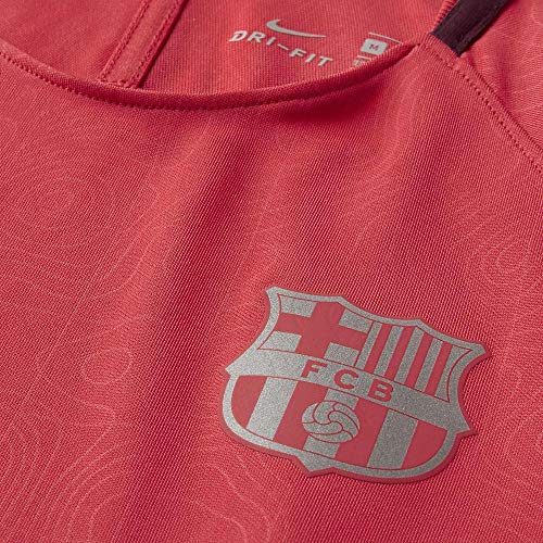 Nike Kinder FC Barcelona Dry Squad T-Shirt, Tropical Pink/Deep Maroon/Reflective Silver, S