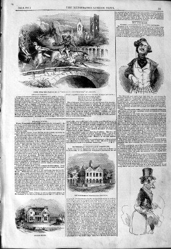 original old antique victorian print Institut 1844 de Rotherham de Théâtre de Tam O'Shanter Astley [Cuisine et Maison] par original old antique victorian print