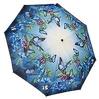 Galleria Auto Folding Umbrella - Bluebells