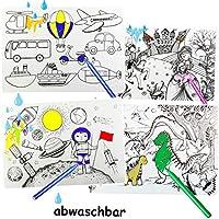alles-meine.de GmbH zum Ausmalen - große Unterlage / Schreibtischunterlage - Motiv-Mix - 48 cm * 34 cm - Tischunterlage / Knetunterlage / Bastelunterlage - bemalen anmalen - Plat..