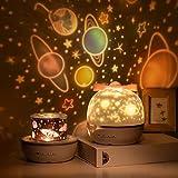 SUVOM Lámpara Proyector Infantil 360° Rotación Lampara Luz Nocturna LED para Bebés, con 6 Películas de Proyección, Aplicar pa