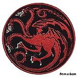 Parche bordado de dragón para coser o planchar de la casa Targaryen de Juego de...