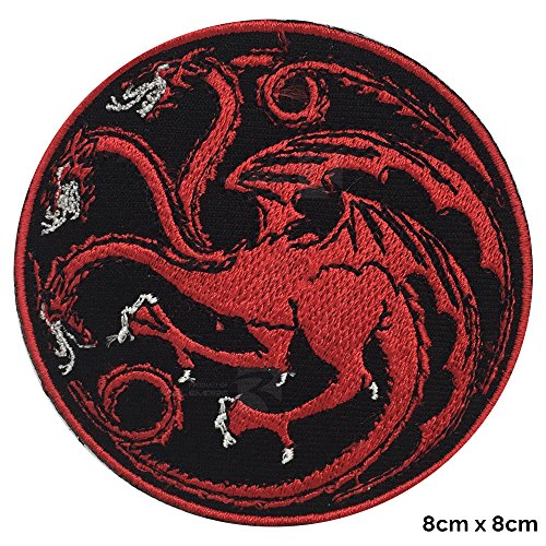 Parche bordado de dragón para coser o planchar de la casa Targaryen de Juego de Tronos