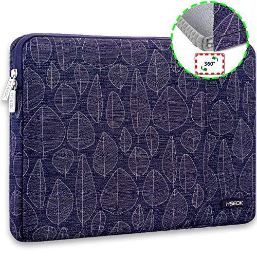 HSEOK 15,6 Zoll Laptop Hülle Tasche,Stoßfeste Wasserdicht PC Sleeve kompatibel mit die meisten 15,6 Zoll Laptops Dell/HP/Lenovo/Acer/Ausu,Goldene Blätter (Case Travel Zoll 15 Pro Macbook)