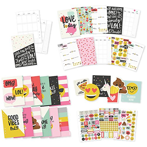 Simple Stories Emoji Amore A5 12 Calendario mensile Inserto Set, Multicolore