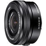 Sony SELP1650 Standard-Zoom-Objektiv (16-50 mm, F3.5–5.6, OSS, APS-C, geeignet für A6000, A5100, A5000 und Nex Serien, E-Mount) schwarz