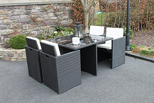 culcita liegestuhl gartenm bel set 4 sitzer cube rattan. Black Bedroom Furniture Sets. Home Design Ideas