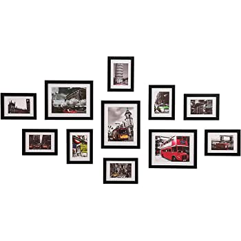 Wood Meets Color Wall Photo Frames Multiple Photos Including White