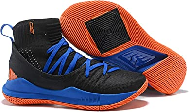 UnderArmour UA Curry 5 Balck Blue Men's Basketball Shoes