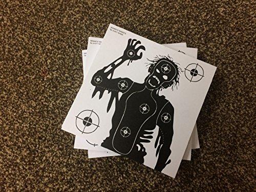 Zombie Shooting Target (100Stück) Größe 140mm x140mm schwarz und weiß. Geeignet für .22, 762239Kaliber Gewehre, Air Pistolen, BB Guns (Gewehr-ziel-praxis)