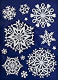 1 x Fensterdeko Schneeflocken Weiß Fensterbilder Weiße Schneeflocken wederverwendbar
