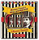 Robert Frederick Crackers with Magic Games - Vintage Black & White Stripe, Assorted